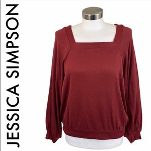 JESSICA SIMPSON NWT BURGUNDY RED TOP SIZE LARGE